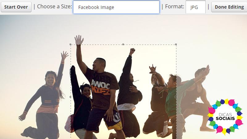 edição de fotos online social image resizer tool exemplo