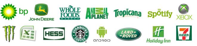 marcas em verde